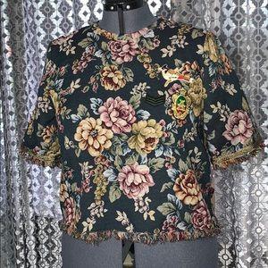 Zara Tapestry Crop Top